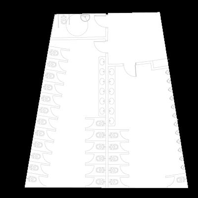 Detalle del mapa de los aseos de La Cúpula