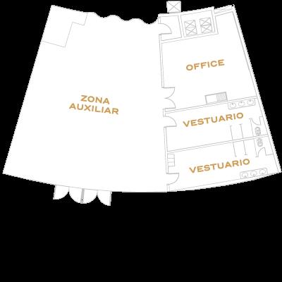 Detalle mapa backstage La Cúpula
