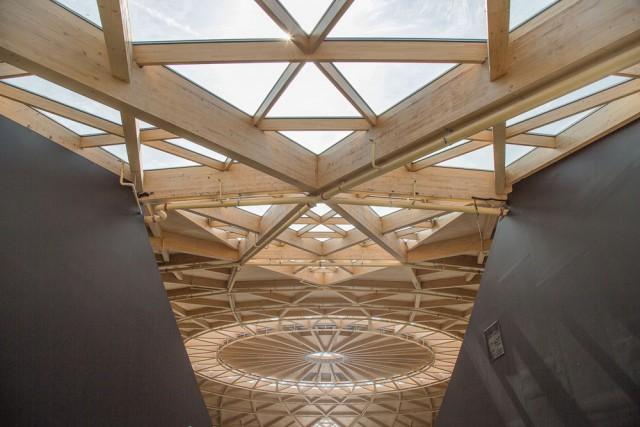 Techo de madera de La Cúpula de Arenas