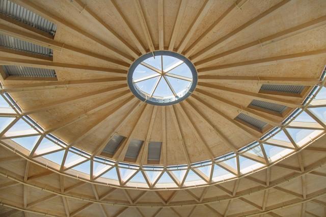Bóveda de madera de La Cúpula de Arenas