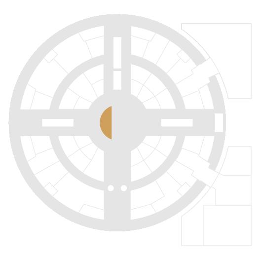 Mapa de la zona izquierda de la plaza central de Arenas de Barcelona