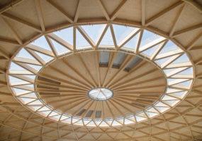 Bóveda de madera de La Cúpula